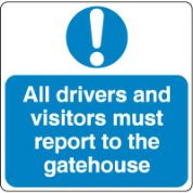 Mandatory Safety Sign - All Drivers Report.. 024